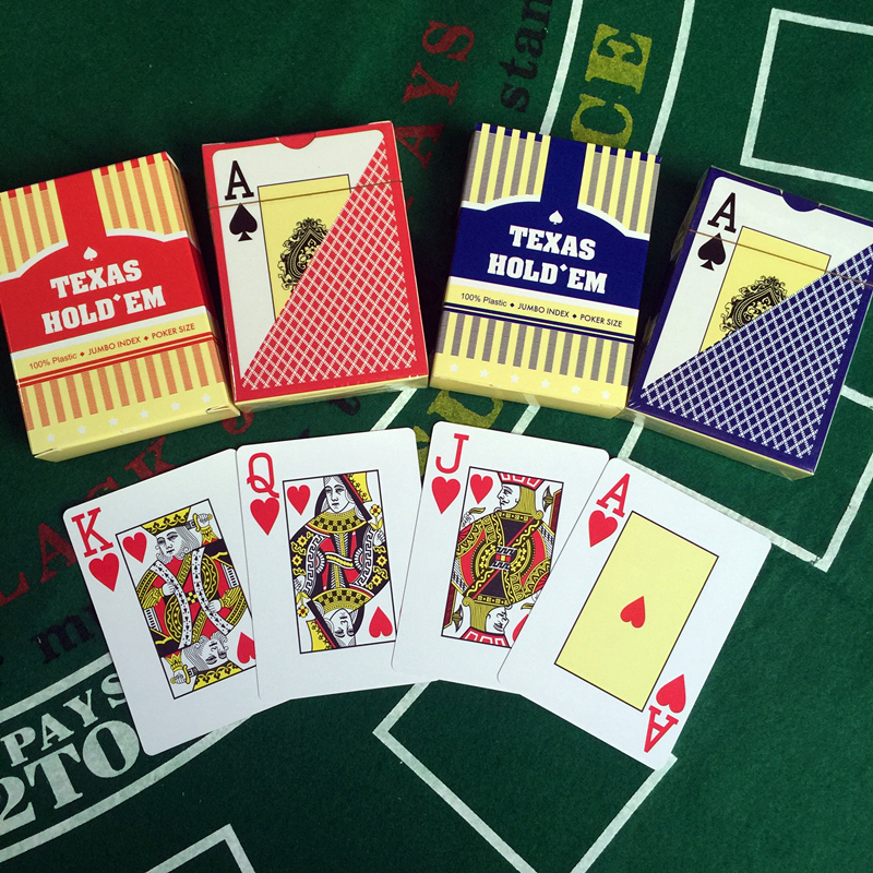 Yernea 2 Sets Lot Baccarat Texas Hold 39 em Plastic Playing Cards Waterproof wear resistant Scrub Poker Cards games 2 48 3 46 inch in Playing Cards from Sports amp Entertainment