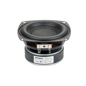 Image 1 - Aiyima 1 pc 4 polegada hi fi 8ohm/4ohm subwoofer alto falante de áudio super baixo woofer alto falante 40 w alto falante de alta potência