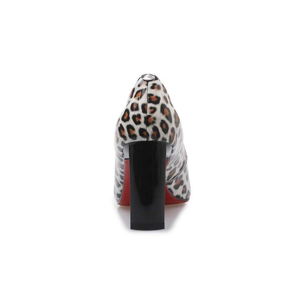 Leopardo Cuero Cine Black Puntiagudo De Nuevo L9f1 Brown Elegante black Estrella Bombas Krazing Del Genuino Sexy Streetwear Decoración Olla White Dedo Pie EAnwyq8Uc