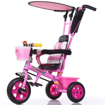 Venta caliente Niños Del Bebé Triciclo 3 Ruedas de Bicicleta Portátil Para 1-5 Bebé Cochecito de Bebé de Coche de Seguridad de Carga Fuerte