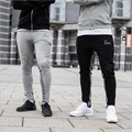 Gymshark Mens Joggers Skinny Sweat Pants Embroidery Logo Tights Sweatpants For Men Little feet pants Sheer Trousers