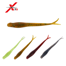 Купить с кэшбэком XTS Fishing Lure 90mm 1.6g Wobblers Carp Fishing Soft Lures PVC Material Artificial Fork Tail Fishing Tackle Soft Lures 3804