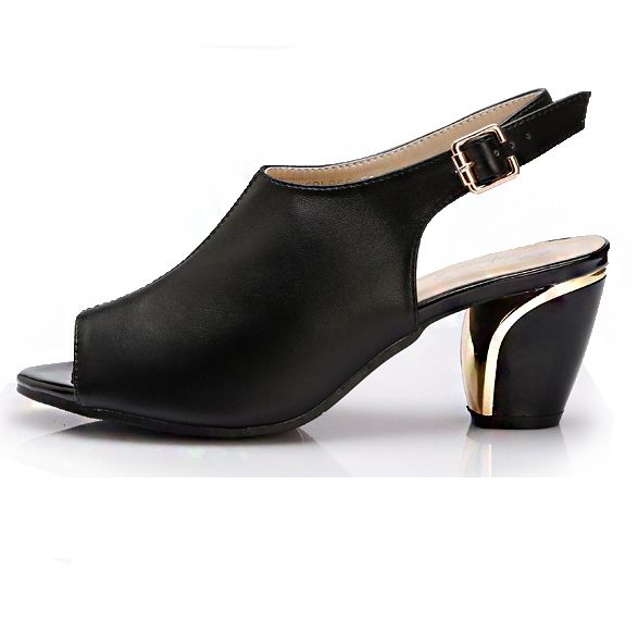 b1d57e1288fe Block med heel slingback summer sandals shoes for women. DS127 female brand  new design high