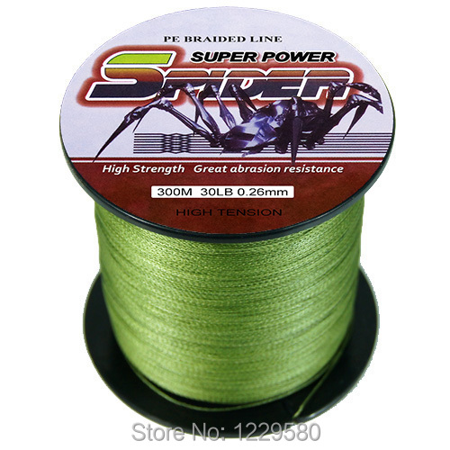 Spider 2014 multifilament braided wire fishing line 300m for 30 lb braided fishing line
