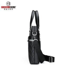 Image 5 - Classic Plaid Design Business Man Bag Vintage Brand Mens Messenger Bag Casual Business Male Shoulder Bags For Male bolsa Hot