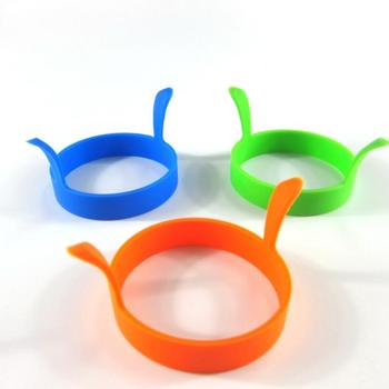 Kitchen Round Ring Silicone Pancake Ring Mould Tool Egg Fry Mold silicone mold fry Egg mould with Handle LX6319