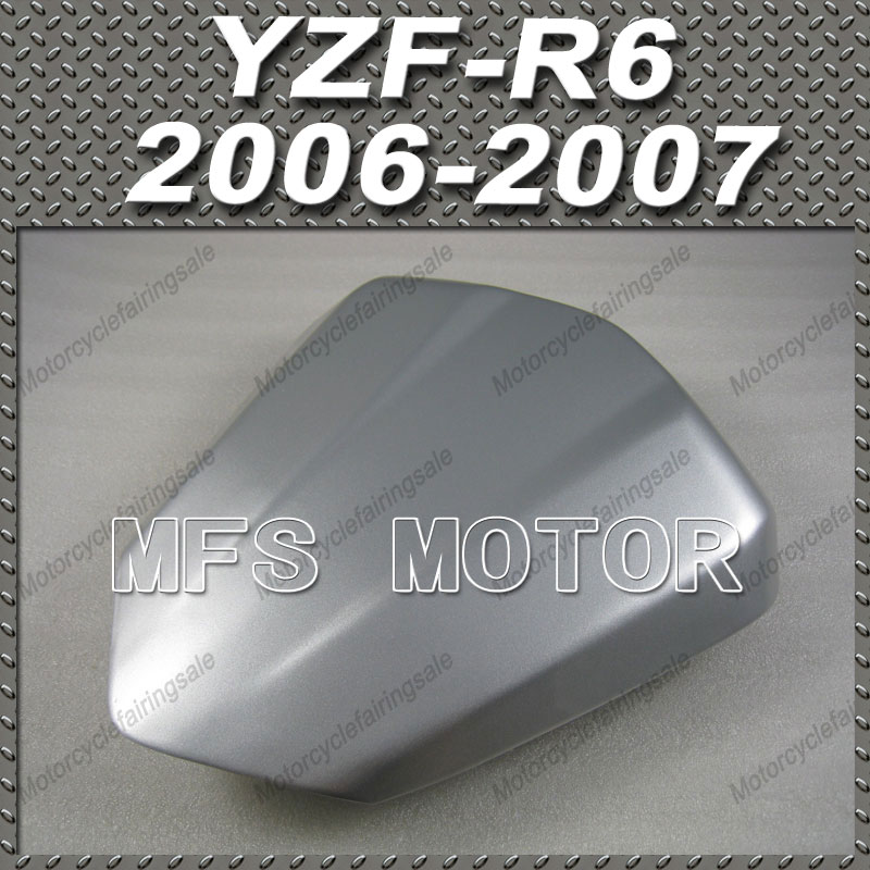 For YZF-R6 Motorcycle Rear Pillion All Silver Injection ABS Seat Cowl Cover For Yamaha YZF-R6 2006-2007