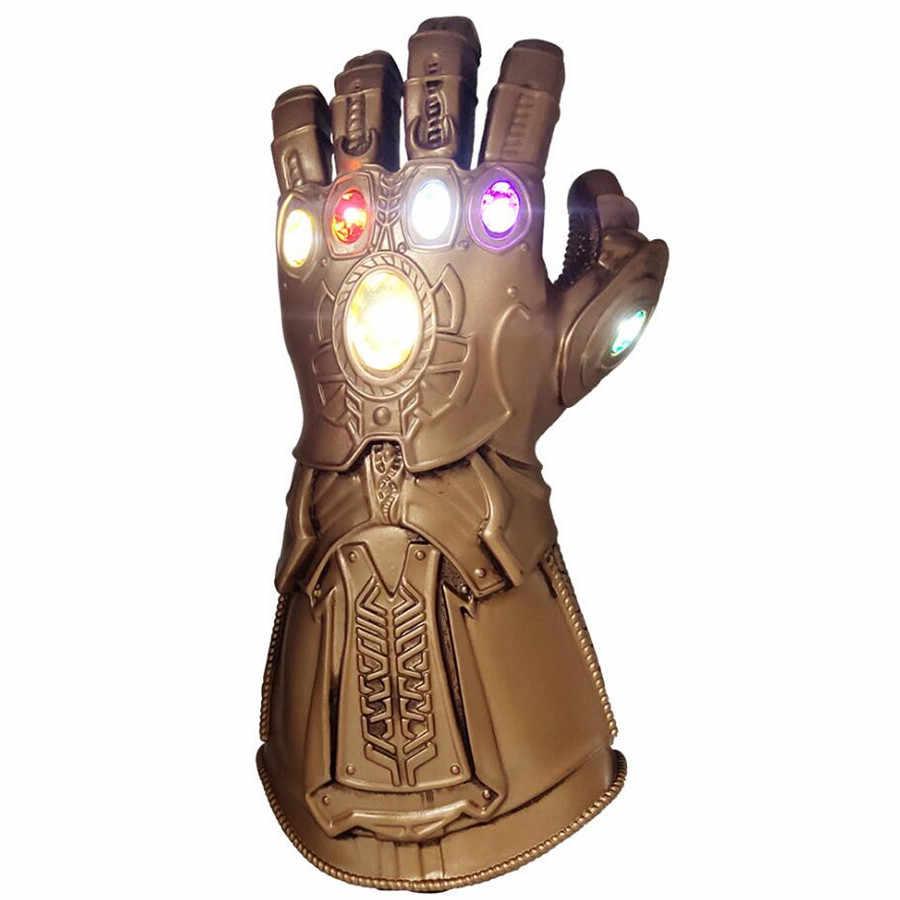 Led crianças adulto marvel vingadores endgame super-herói thanos infinity gauntlet luvas cosplay vingadores led luva snap mittens brinquedo