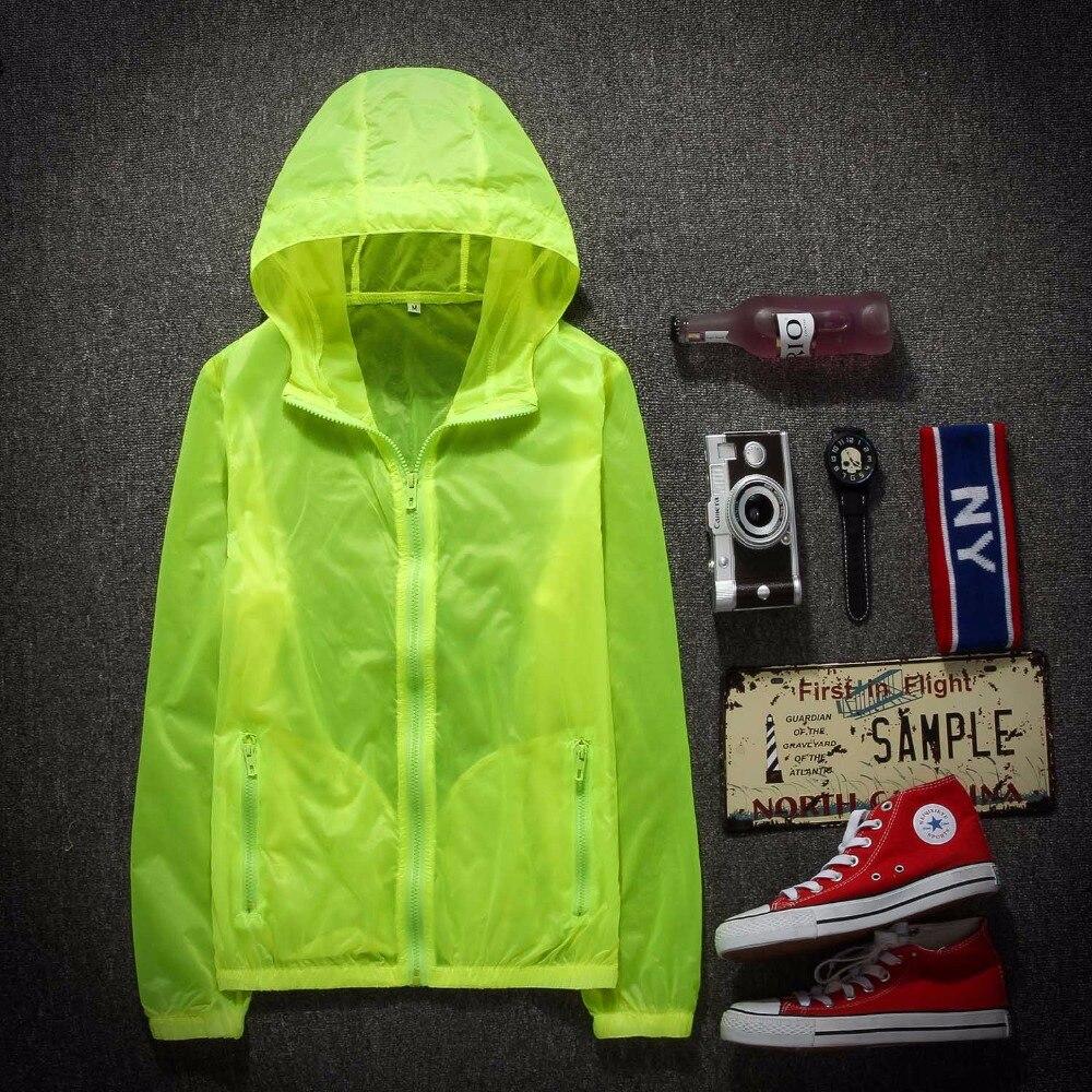 Простота Для мужчин/Для женщин УФ Защита от Солнца защиты быстросохнущая Slim-Fit Тонкий Прозрачный куртка