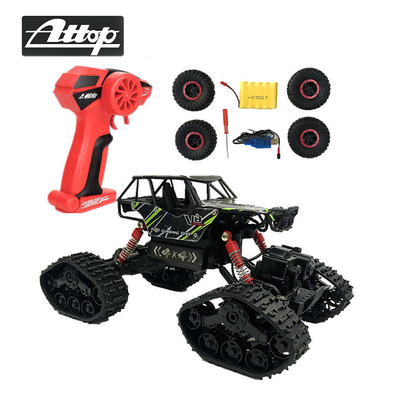 ATTOP Remote Control Off Road Cars Electric RC Car Rock Crawler Toy On The Radio Controlled