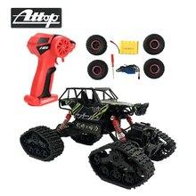ATTOP пульт дистанционного управления внедорожные автомобили электрический RC автомобиль рок гусеничная игрушка на радио управление led 4×4 игрушки для вождения для мальчиков Детский подарок