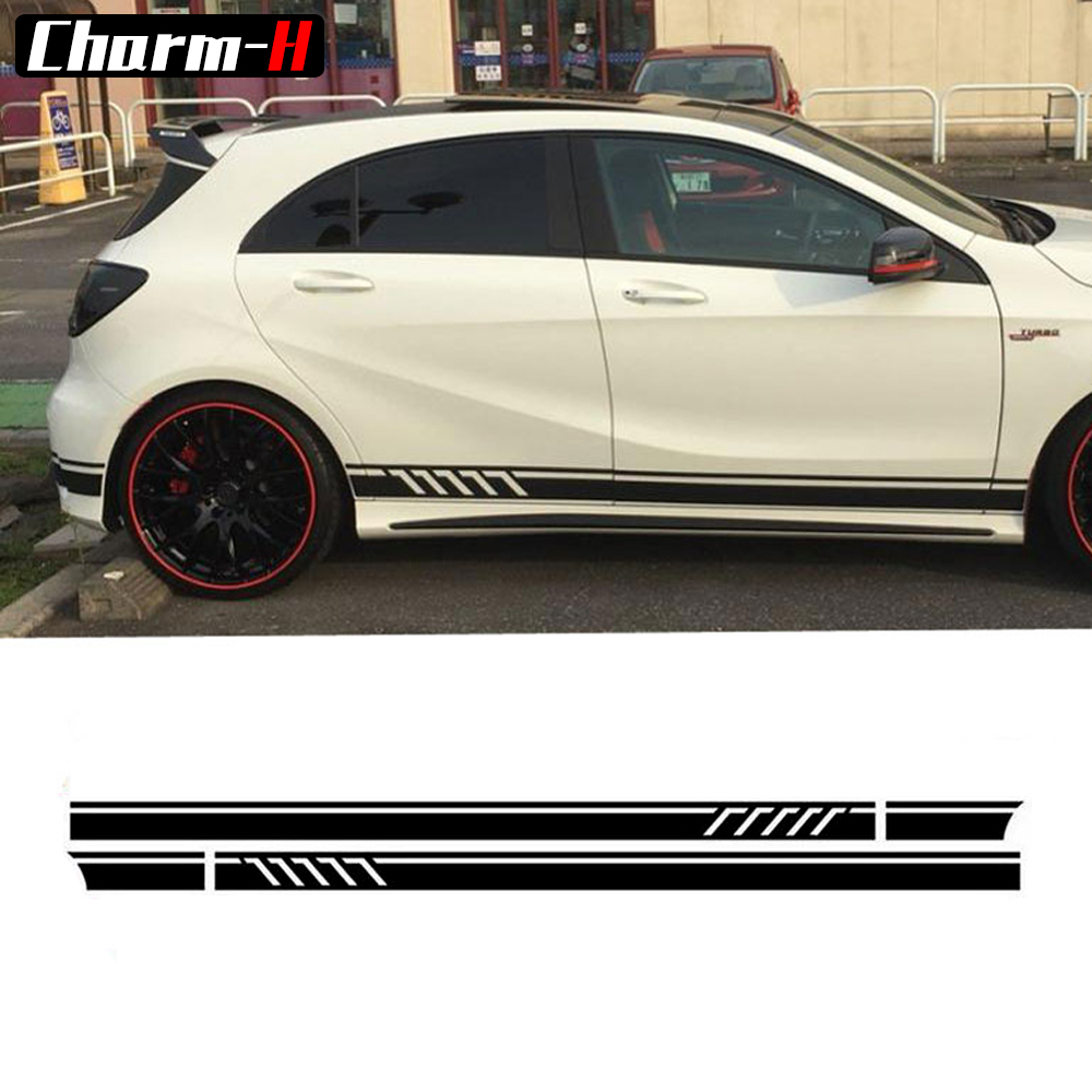 Gloss/Matte/5D Black- Edition 1 Style Door Side Racing Stripes Vinyl Decal for Mercedes Benz W176 A Class A45 AMG A180 A200 A250 tango zarina black ct10 176 код2131