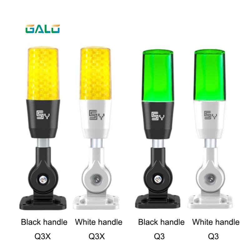 Multi-function Led Warning Light 1 Layer Tricolor Folding Led Warning Lamp Flashing Sos Lamp Safety Indicator Light Security Alarm