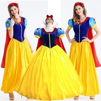 Women Adult Halloween Cartoon Princess Snow White Costume Cosplay For Women Wear Adult Fantasia Carnival Party Princess Dress