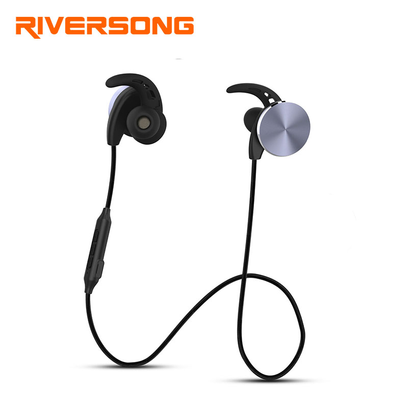 Riversong Bluetooth Headset Metal Magnetic Wireless Stereo Headphones with Mic Sport Running Apt-X HD Music Bluetooth earphone