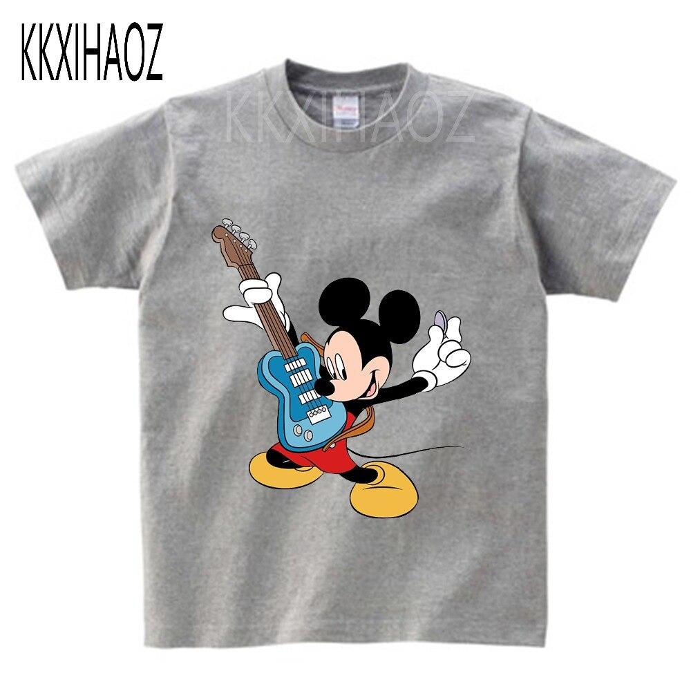 Children Mickey Mouse T Shirts Kids Cartoon Summer Short Sleeve T Shirt Boys Clothing Baby Sweater Tops Tee Shirt Boys Clothes