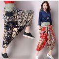 Envío gratis 2016 Womem Nepal Nacional Caídos Pantalones Harem Tiro Caído Pantalones Pantalones Baggy Hippie de Boho de Bohemia 70201
