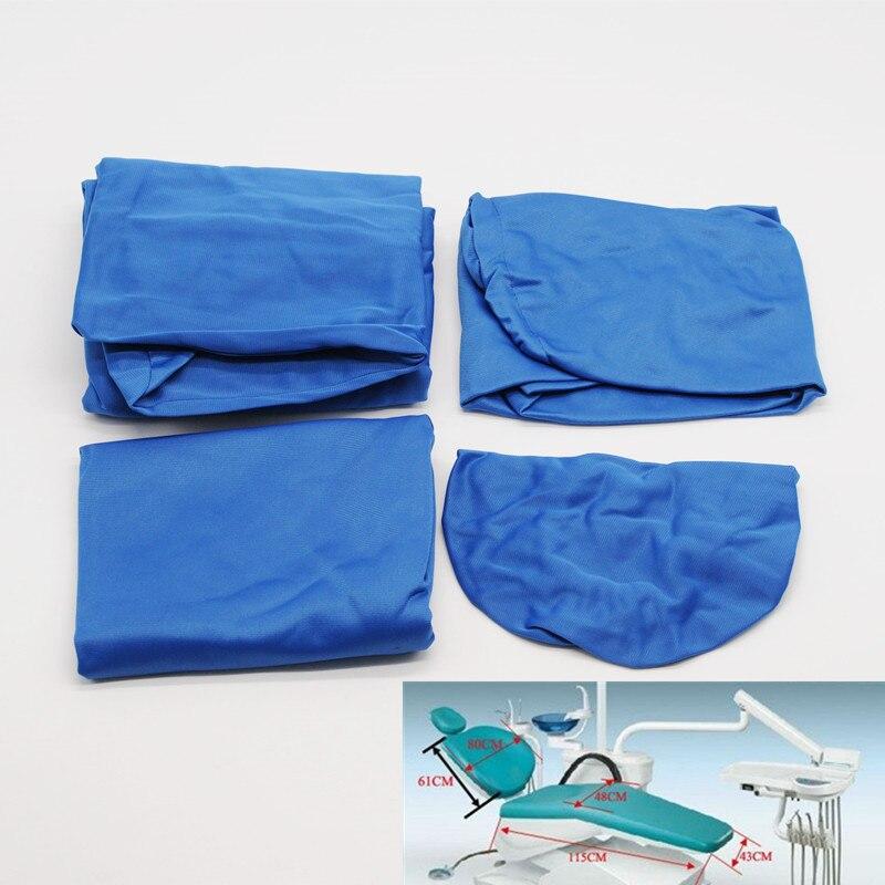 Чехол для стоматологического стула протектор синий моющийся эластичный хлопок для стоматолога лаборатории