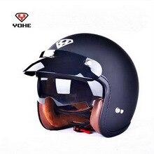 2016 Новый YOHE Harley стиль мотоциклетный шлем YH-859 ретро мотоцикл шлемы, изготовленные из ABS может быть установлен пузырь зеркало 4 цвета