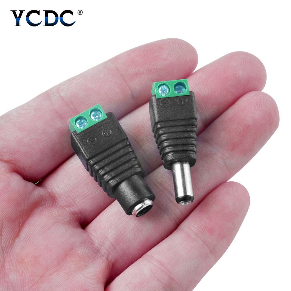 Ac/dc Adapters Efficient 1/2/5/10 Pairs 5.5 X 2.1mm Male Female Dc Connector Power Plug Jack Adapter Cable Connector For Led Strip Light Cctv Dvr Video Modern Design