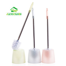 1 Pc Durable WC Bathroom Toilet Brush with Stainless Steel Handle Whit Holder Cleaning Tools