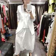 Womens suit 2019 female spring new long-sleeved solid color casual vest 3 piece set harem pants large size fashion