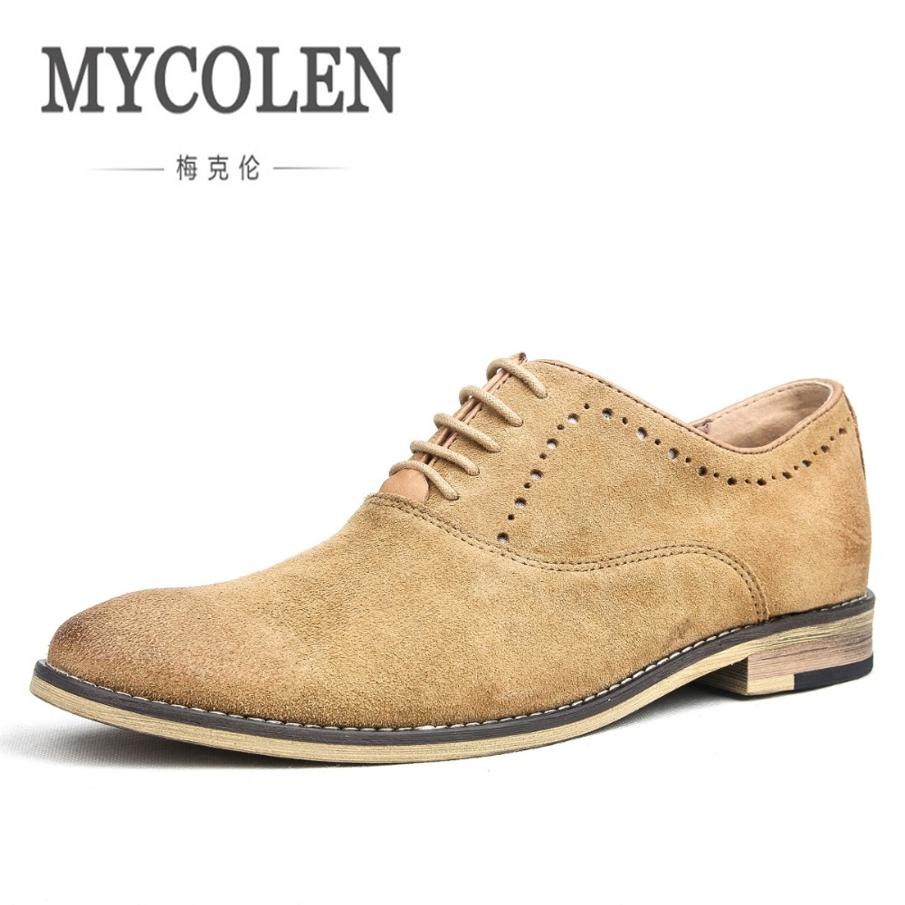 MYCOLEN Brand Handmade Men Shoes Genuine Leather Italian Carved Wedding Mens Dress Shoes For Business Sapato Masculino Couro mycolen spring genuine leather men shoes comfortable boat shoes business mens loafers shoes casual sapato masculino couro