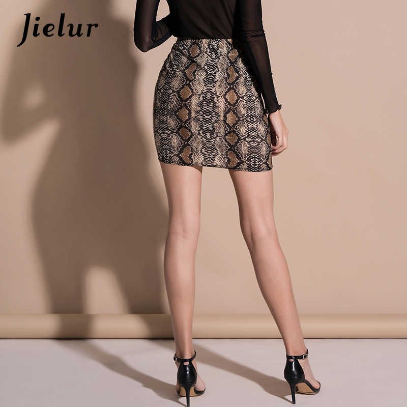 dbdf54a04593 ... Jielur 2019 Summer Office Lady Skirts High Waist Printed Bodycon  Women s Skirt Casual Fashion Leopard Mujer ...