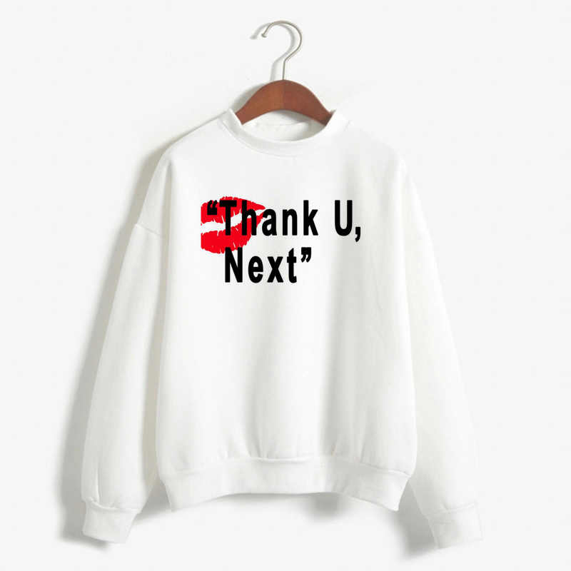 Women'S Loose Hoodies Pullover Coats Top Sweetener Relaxed Crew Neck Sweatshirt Harajuku Boyfriend Ariana Grande Sweatshirts