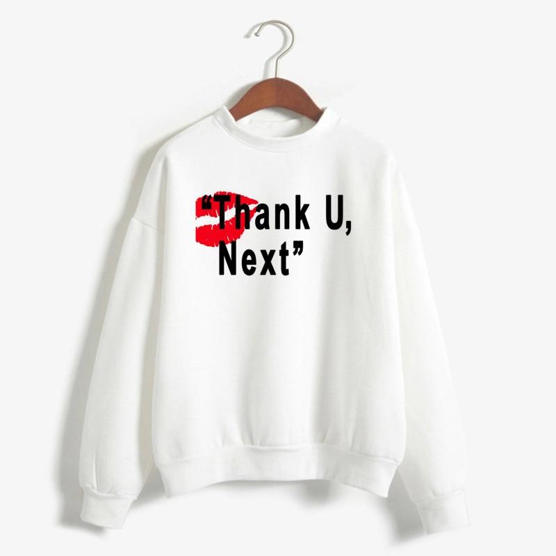 Women'S Loose Hoodies Pullover Coats Top Sweetener Relaxed Crew Neck Sweatshirt Harajuku Boyfriend Ariana Grande Sweatshirts