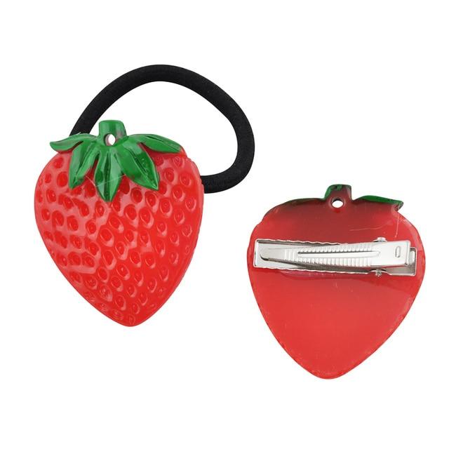 1Pc Fruit Slice Multi-Patterns Hair Accessories Girl Women Elastic Rubber Bands Hair Clips Headwear Tie Gum Holder Rope Hairpins 5