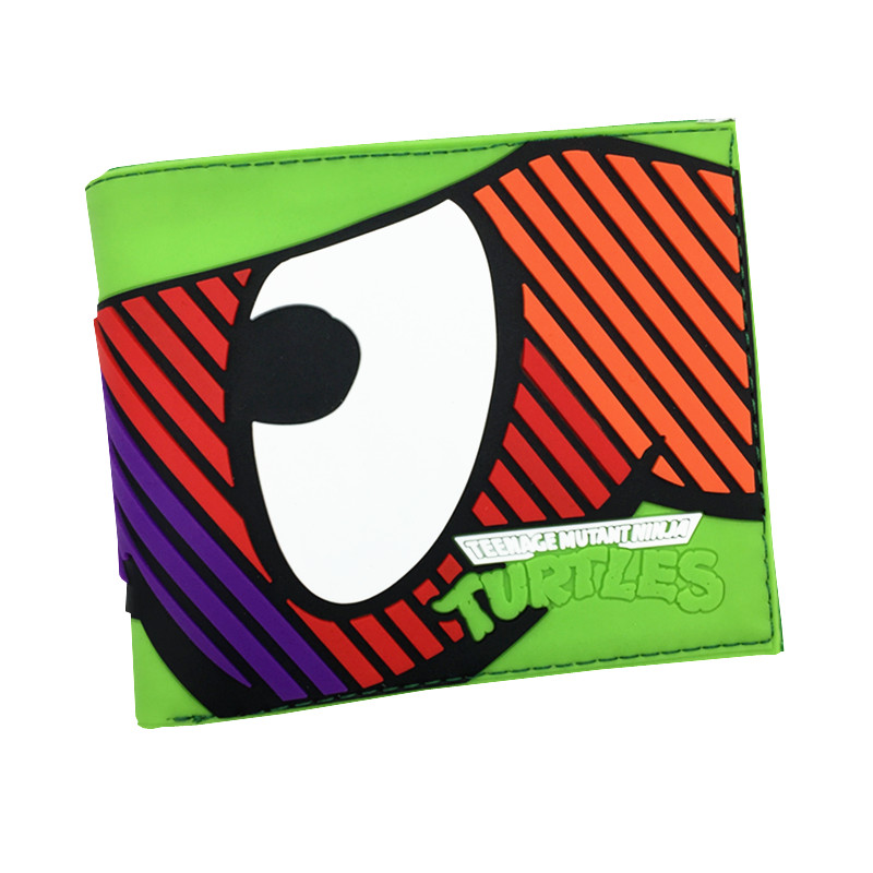 Free Shipping Animated Cartoon Mutant Ninja Turtles Wallet for Young People Students Gift With Card Holder Wallets Dollar Price hot 2017 world of warcraft wallets cartoon anime purse gift for young students pu leather dollar bags casual short wallet