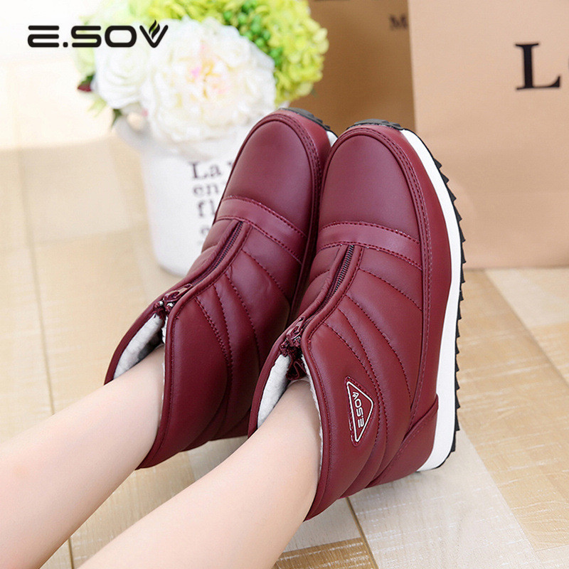 2017 Waterproof Snow Boots Women Winter Shoes Woman Plush Warm Ladies Ankle Boots Platform Casual Shoes Botas Invierno Mujer 2016 rhinestone sheepskin women snow boots with fur flat platform ankle winter boots ladies australia boots bottine femme botas