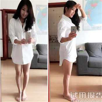 My NewIn 4XL 5XL Plus Size Women Blouse Shirt Long Sleeve White Solid Loose Long Version Casual Top 4