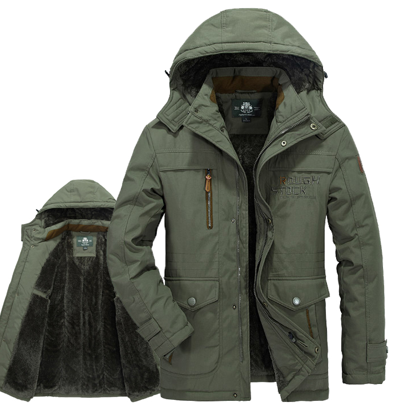 2017 AFS JEEP Winter coat men army military parka jacket high quality man jacket winter warm thick mens fur parka plus size L-6X vogue anmi brand coat winter jacket men fur hooded army warm men parka thick