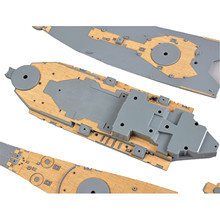 Mini Hobby 1/350 Scale Wooden Deck for USA BB 62 New Jersey Upgraded Wooden Deck 80603 with anchor chain