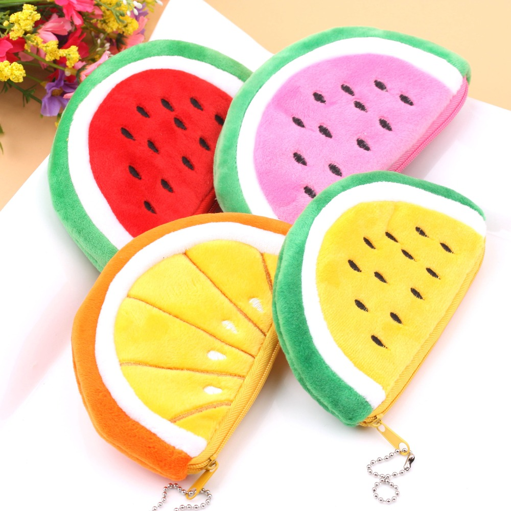 Womens Purse 2018 Plush Watermelon Coin Money Wallets For Child Girls Kids Woman Small Change Cute Mini Bag For Little Things