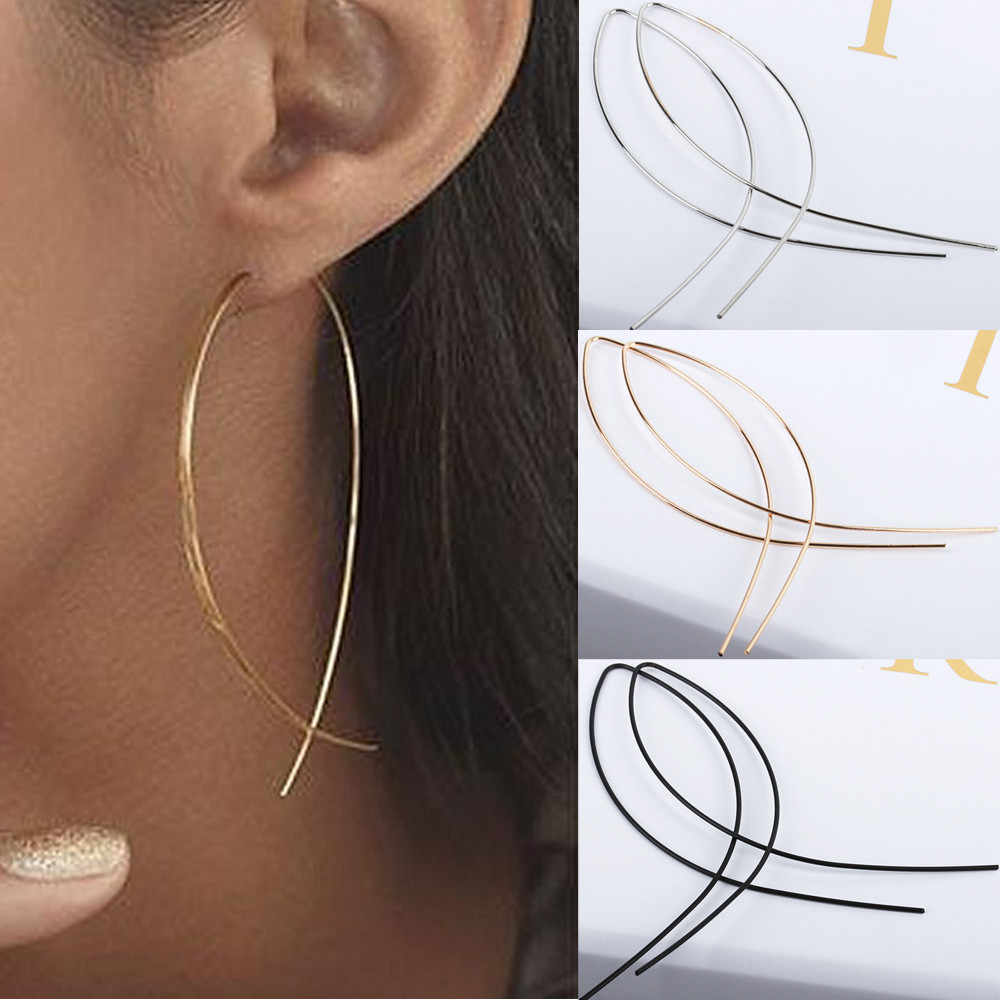 1Pair Fashion Women Art Bronze Fish Shaped Handmade Dropping Earring Hot Sale Fashion Jewelry10.3