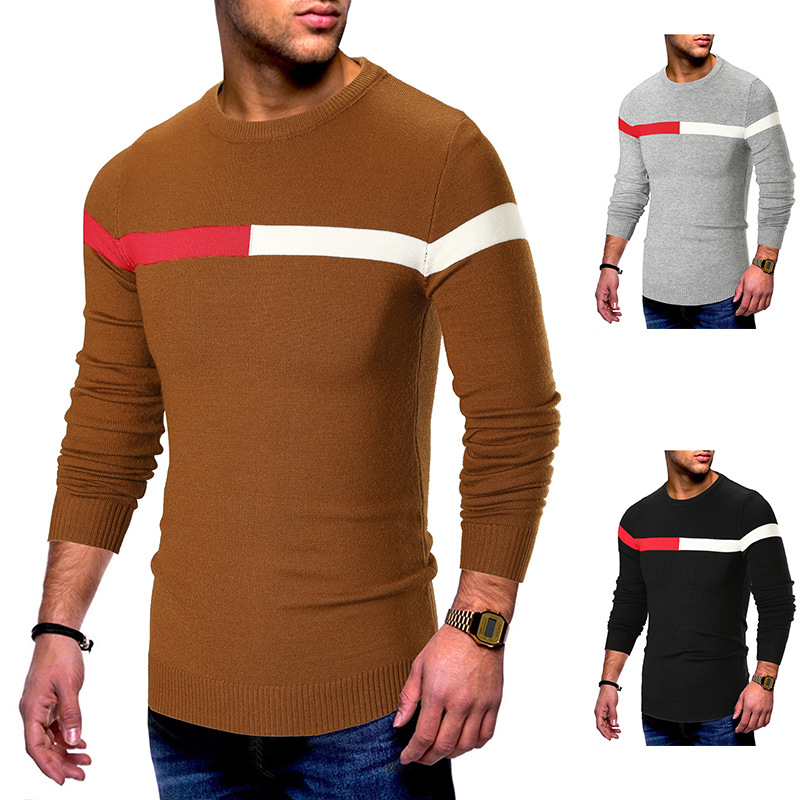 FAVOCENT Men Sweaters Outerwear Pullover Jumper Slim-Fit Knitted Male Autumn Casual Winter