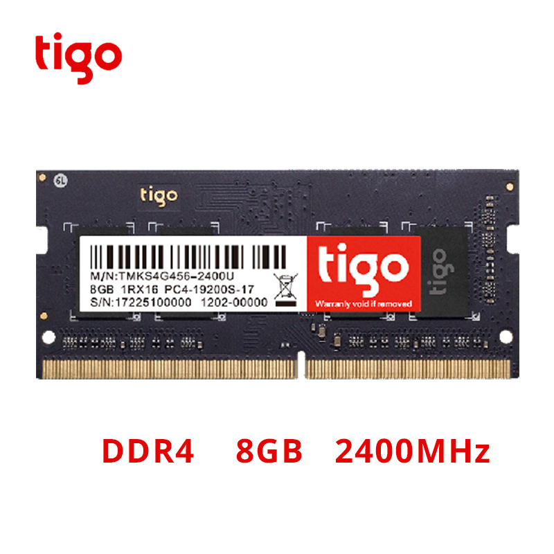 Tigo <font><b>RAM</b></font> <font><b>DDR4</b></font> <font><b>8GB</b></font> Laptop <font><b>2400MHz</b></font> Memory 8 GB DDR 4 Memoria SoDIMM For Laptop image