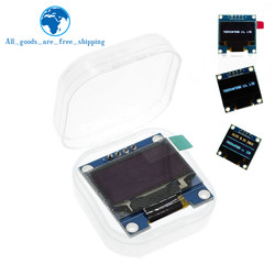 Color Azul blanco 0,96 pulgadas 128X64 Módulo de pantalla OLED amarillo azul Módulo de pantalla OLED para Arduino 0,96 IIC SPI comunicarse