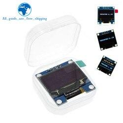 Module d'affichage OLED couleur bleu blanc 0.96 pouces 128X64 Module d'affichage OLED bleu jaune pour communication Arduino 0.96 IIC SPI