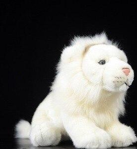 Бесплатная доставка милый Лев Кукла имитирует Африканский Лев белый лев имитирует животных плюшевые игрушки 26 см