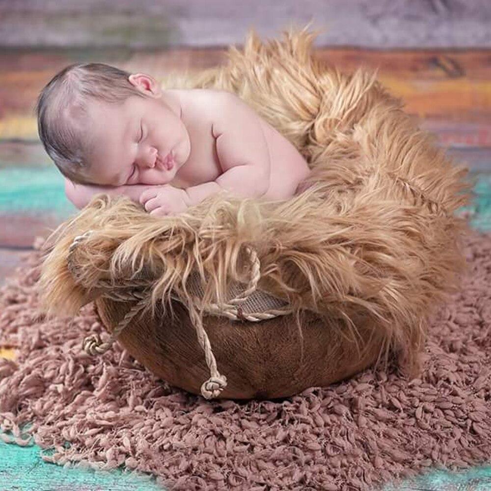 2pcs lot mix color Hand Crochet Soft Round Baby Fringe Blanket Diameter 50cm Newborn Photography Props