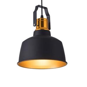 Image 5 - תעשייתי stye12W אלומיניום בציר רטרו תליית תקרת אור שחור led תליון מנורת אוכל מסעדה בר תאורה