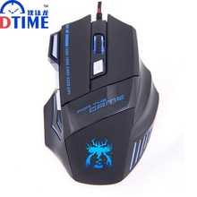 DTIME USB Wired Optical Mouse Computer Gaming Mice for Dota CS LOL Gamer Laptop Computer Mause bloody mause Raton souris pc(China)