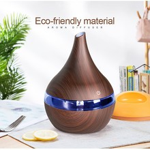 300ML USB Electric Aroma Air Diffuser Wood Ultrasonic Air Humidifier Essential Oil Aromatherapy Maker For Home 300ml air humidifier ultrasonic usb aroma essential oil diffuser built in aroma tablets for car office home air purifier