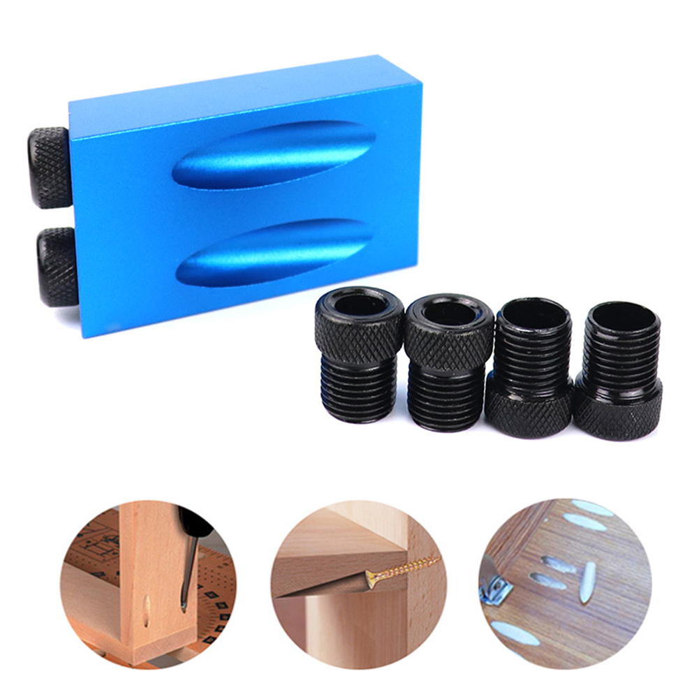 Multi-Size 6/8/10mm  Woodworking Pocket Hole Jig Kit Drill Guide Set Hole Puncher Locator Jig Drill Bit Set Carpentry Tools