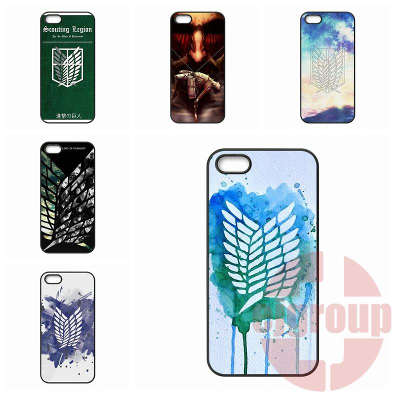 For Galaxy Core 4G Alpha Mega 2 6.3 Grand Prime S6 edge Ace Note 7 Ace4 G357 G313h Attack on Titan Scouting Legion Cover