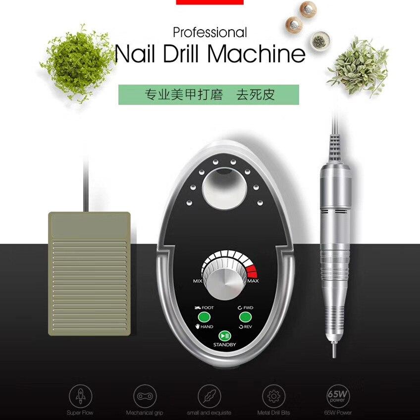 LAMPNAIL 65 Вт ногтей дрель маникюрный набор 35000 об./мин. машина для маникюр педикюр файлы ногтей лак фрезы для маникюра